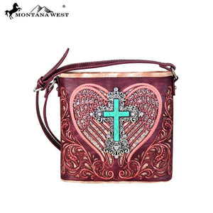 MW648-8360 Montana West Embroidered Collection Crossbody