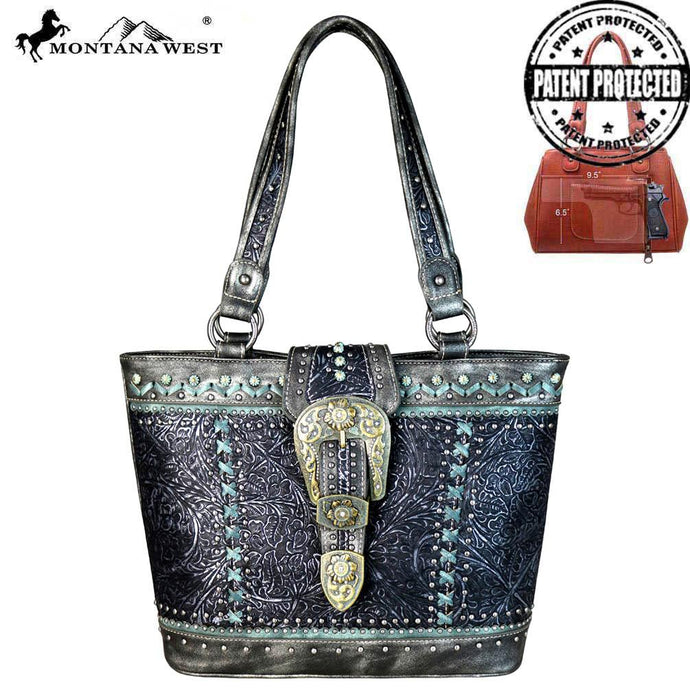 MW651G-8317 Montana West Buckle Collection Concealed Carry Tote