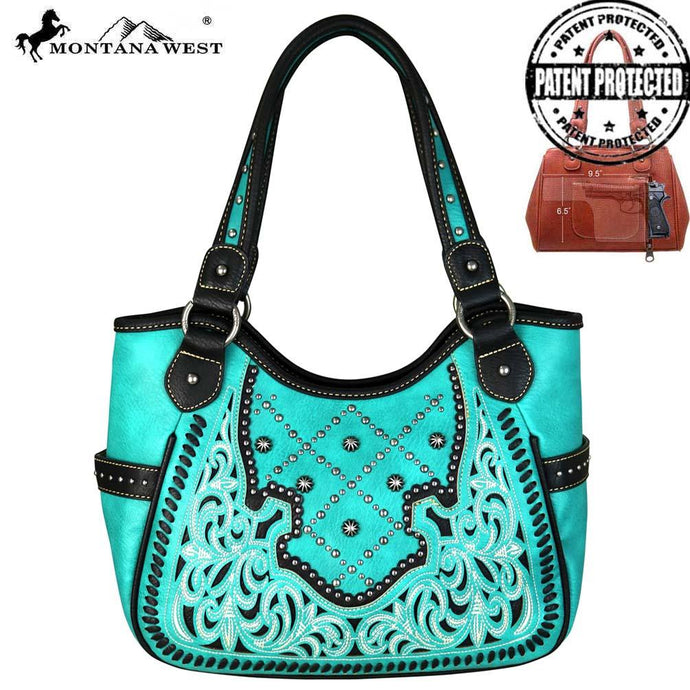 MW658G-8110 Montana West Embroidered Collection Concealed Handgun Tote