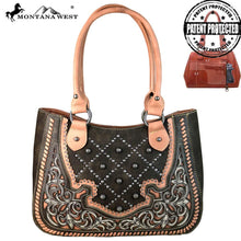 MW658G-8248 Montana West Embroidered Collection Concealed Handgun Satchel
