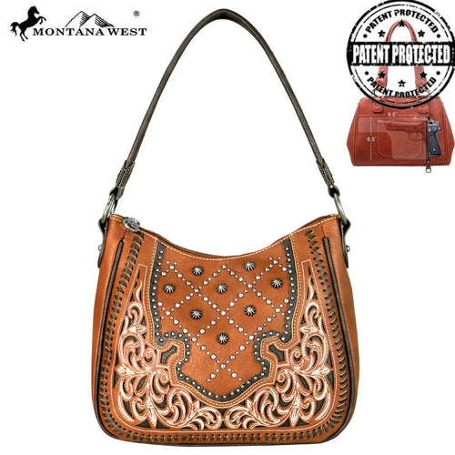 MW658G-8291 Montana West Embroidered Collection Concealed Handgun Hobo