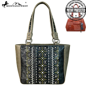 MW662G-8559 Montana West Tooled Collection Tote