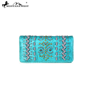 MW662-W018 Montana West Tooled Collection Wallet/Wristlet