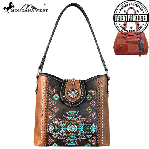 MW666G-916 Montana West Aztec Collection Concealed Carry Hobo