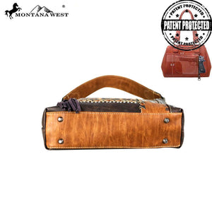 MW672G-121 Montana West Concho Collection Concealed Carry Hobo