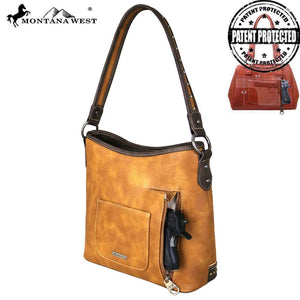 MW678G-8284 Montana West Concho Collection Concealed Carry Hobo