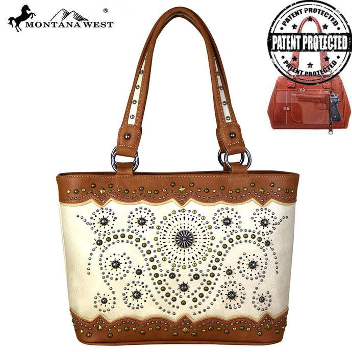 MW678G-8317 Montana West Concho Collection Concealed Carry Tote