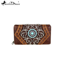 MW691-W010 Montana West Concho Collection Secretary Style Wallet