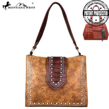 MW699G-8251 Montana West Tooled Collection Concealed Carry Tote