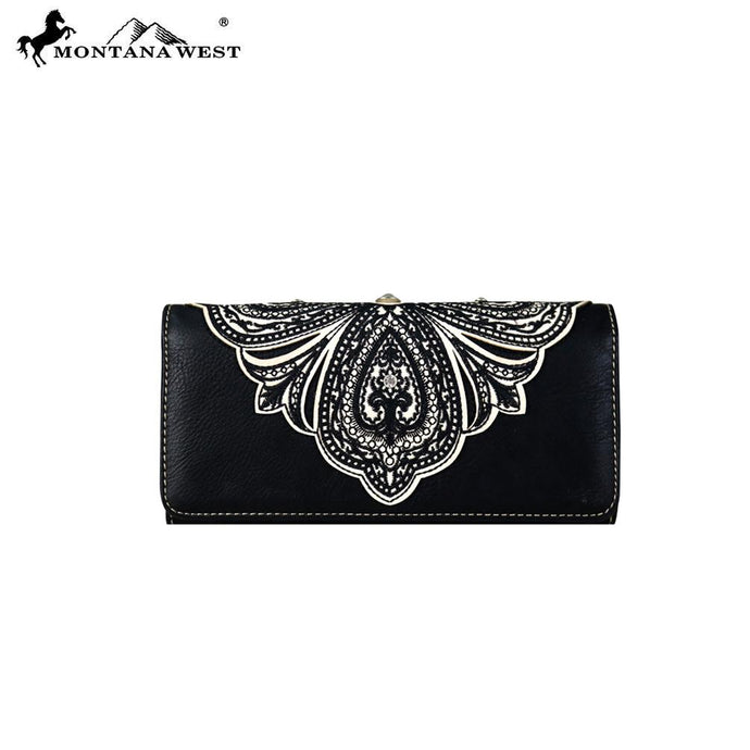 MW700-W002 Montana West Embroidered Collection Wallet