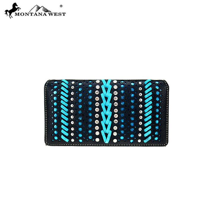 MW729-W010 Montana West Safari/Bling Bling Collection Secretary Style Wallet