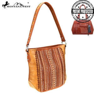 MW729G-916 Montana West Safari Collection Concealed Carry Hobo