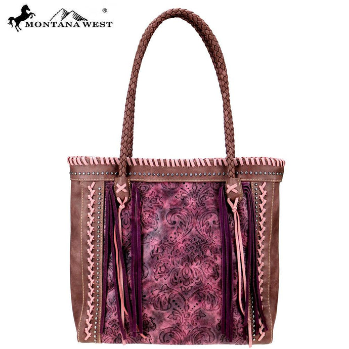 MW753-8014 Montana West Tooled Collection Tote