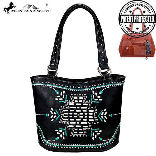 MW759G-8005 Montana West Aztec Collection Concealed Carry Tote Bag