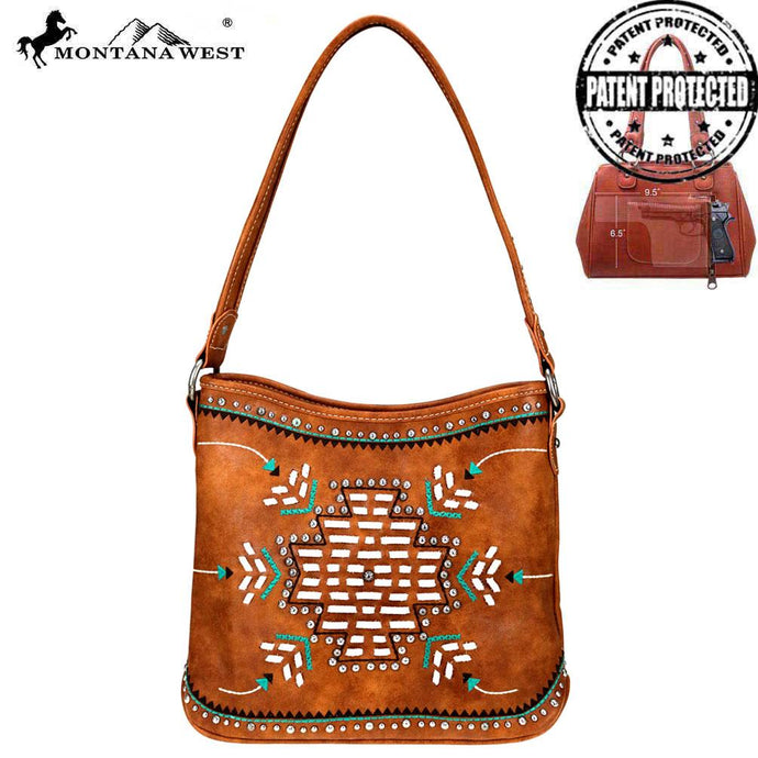 MW759G-918 Montana West Aztec Collection Concealed Carry Hobo Bag