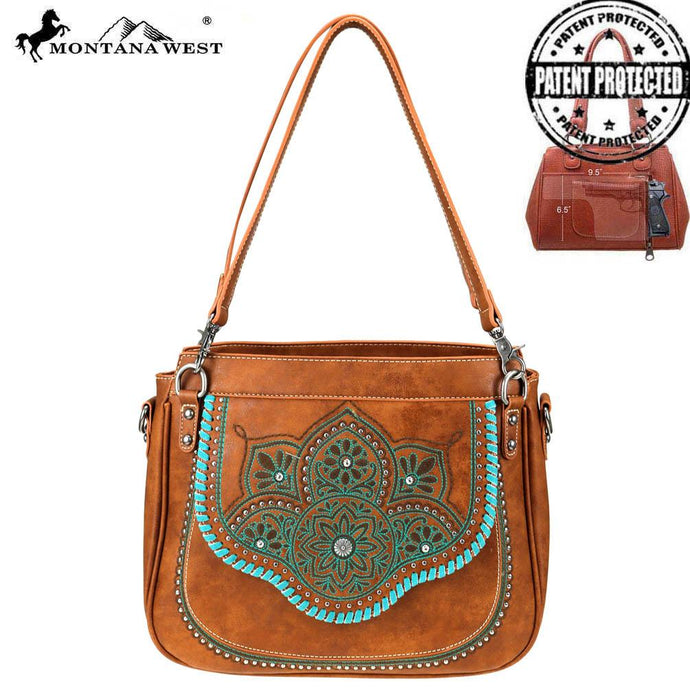 MW763G-8576 Montana West Aztec Collection Concealed Carry Tote/Crossbody