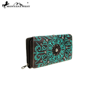 MW770-W010 Montana West Aztec Collection Secretary Style Wallet