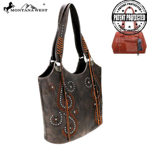 MW771G-8580 Montana West Cut-Out Collection Concealed Carry Tote Bag