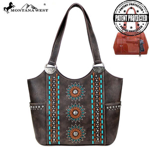 MW772G-8580 Montana West Concho Collection Concealed Carry Tote Bag