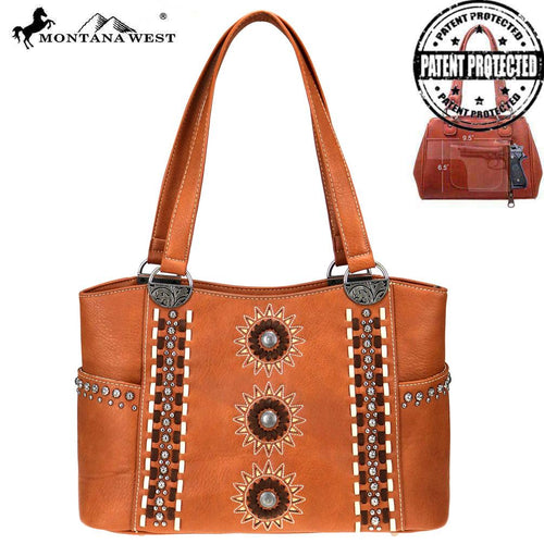 MW772G-8005 Montana West Concho Collection Concealed Carry Tote Bag