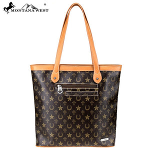 MW776-8113 Montana West Western Monogram Collection Tote
