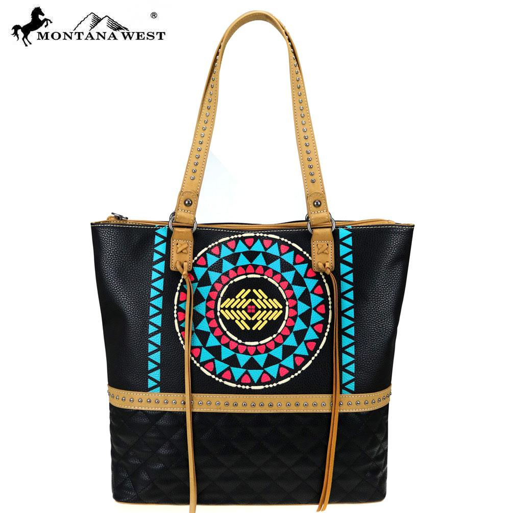 MW832-8113 Montana West Aztec Collection Tote