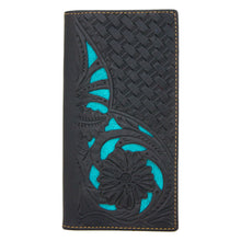 N0-2004L Men's Wallet Collection Floral Tooled Leather