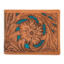 N0-2004 Men's Wallet Collection Floral Tooled Leather