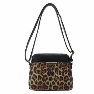 Leopard Crossbody Messenger Bag
