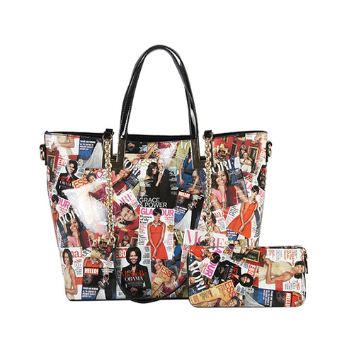 DESIGNER 2 IN 1 MICHELLE OBAMA TOTE BAG