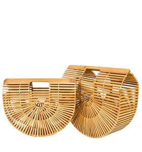 Natural Bamboo Ark  Clutch Bag - Set 2 pieces