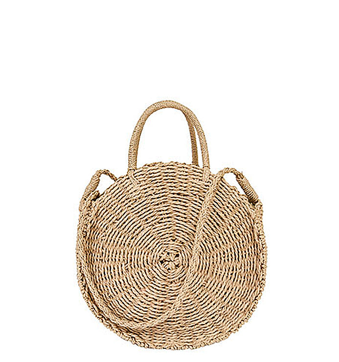 PB0015-2 Large Natural Braided Shoulder Bags