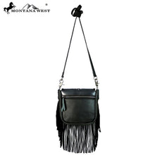 RLC-L108 Montana West Real Leather Fringe Crossbody