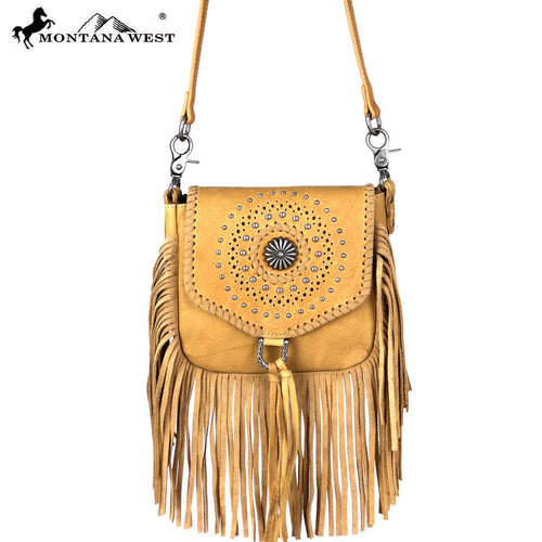 RLC-L109 Montana West Real Leather Fringe Crossbody