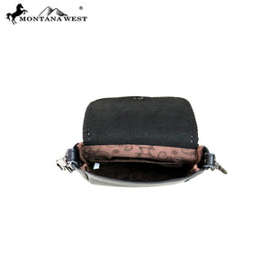 RLC-L112 Montana West 100% Real Leather Crossbody