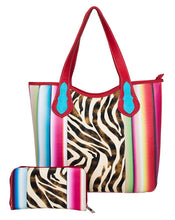 SERA25376Z Zebra Multi Striped 2-in-1 Tote