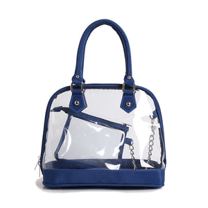 CLEAR DOME SATCHEL HANDBAG