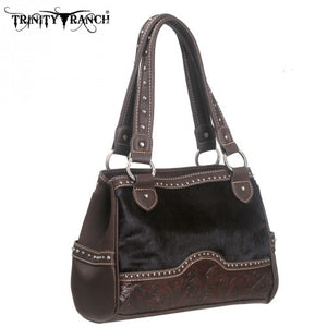 TR06-8247 Montana West Trinity Ranch Tooling Collection Handbag