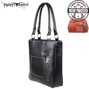 TR26G-L8561 Trinity Ranch Tooled Design Concealed Handgun Collection Handbag