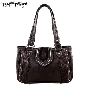 TR32-8248 Trinity Ranch Tooled Design Collection Handbag