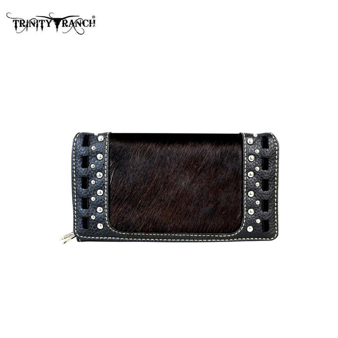 TR44-W010 Trinity Ranch Hair-On Design Collection Secretary Style Wallet