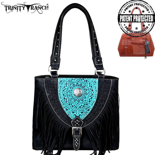 TR66G-8241 Trinity Ranch Tooled Leather Collection Concealed Carry Tote