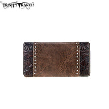 TR68-W010 Trinity Ranch Tooled Collection Secretary Style Wallet