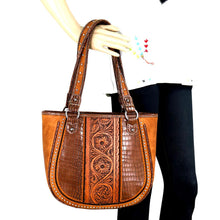 TR69G-8305 Trinity Ranch Tooled Leather Collection Concealed Carry Tote