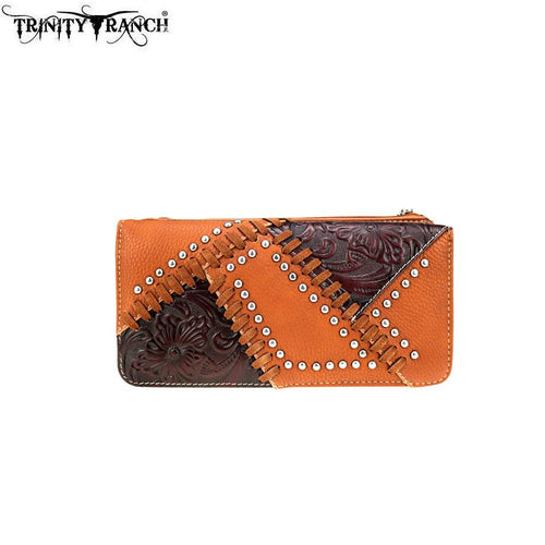 TR74-W021 Trinity Ranch Tooled Design Collection Wallet