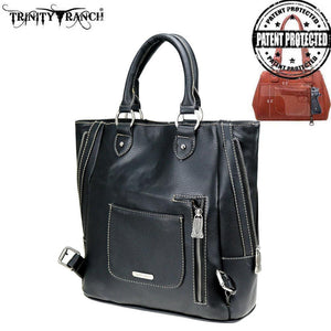 TR74G-1805 Trinity Ranch Tooled Leather Collection Concealed Backpack
