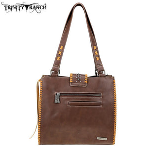 TR75-8113 Trinity Ranch Hair-On Leather /Safari Collection Tote Bag