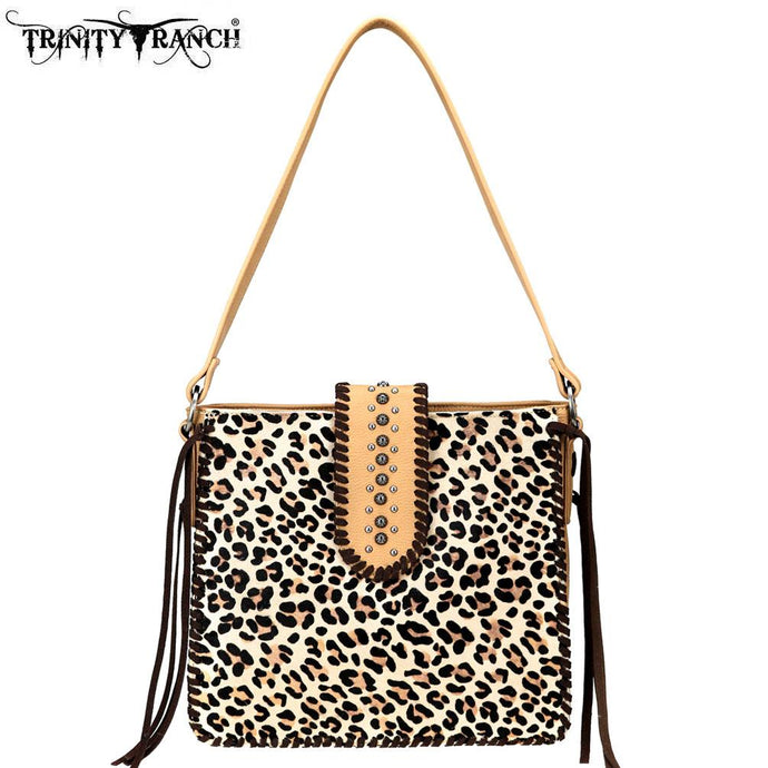 TR75-9220 Trinity Ranch Hair-On Leather /Safari Collection Tote Bag