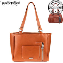 TR77G-8317 Trinity Ranch Hair-On Leather Collection Concealed Carry Organizer Tote