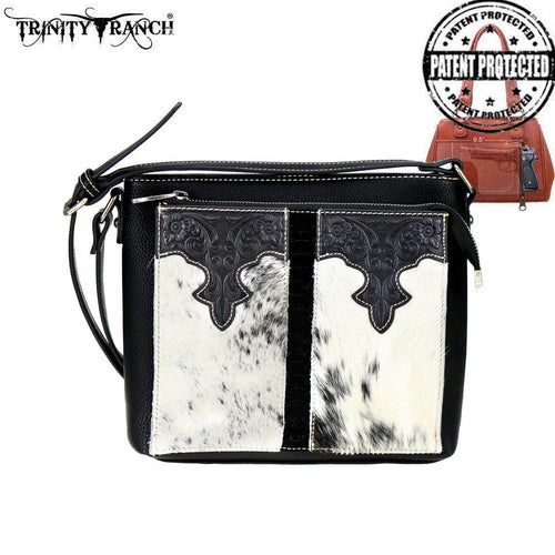 TR77G-9360 Trinity Ranch Hair-On Leather Collection Concealed Carry Organizer Crossbody